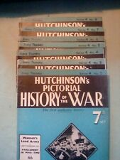 Hutchinson's Pictorial History Of The War   Series 4 (7 volumes)