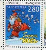 FRANCE, 1993, timbre 2846, JOYEUX NOEL, ROBIN, BD, PLAISIR ECRIRE neuf**