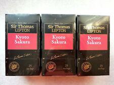 Black tea Sir Thomas Lipton Kyoto Sakura 25 bags x 3 boxes