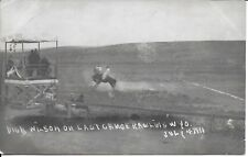 Cowboy Bucking Bronco Dick Wilson on Last Chance, Rawlins WY Real Photo RPPC '11