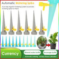 4x Automatische Pflanzen Tropfbewässerung Wasser Stakes Keramik Spikes