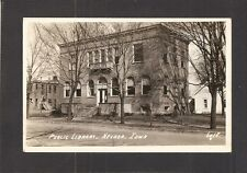 REAL-PHOTO POSTCARD:  PUBLIC LIBRARY - NEVADA, IOWA - Mailed, 1946