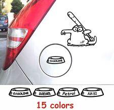 Funny Simons Cat #5 Big Decals Stickers Gas Fuel Tank Cap Cover Graphics Car A