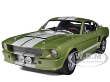 1967 FORD SHELBY MUSTANG GT 500 GREEN W/WHITE 1/18 SHELBY COLLECTIBLES SC186