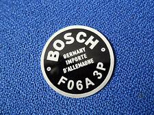 schild Bosch Typenschild Hupe Oldtimer F06A  3P