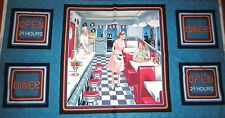 Todays Special Cotton Fabric Fifties Restaurant DINER Quilt Panel Fabric