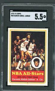1973-74 Topps Kareem Abdul-Jabbar #50 SGC 5.5
