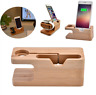 Wooden Charging Dock Station Charger Holder Stand For iWatch iPhone Apple Watch
