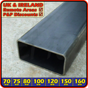 Mild Steel Rectangular Box Section ║ 70mm - 160mm ║ Hollow Rectangle ERW tubing