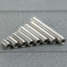 50Pcs Metric M3 Srews 4/6/8/10/12/14/16/20mm Bolt Screw Stainless Steel Concave