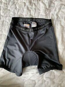 CANNONDALE mens cycling padded shorts gray mesh Large