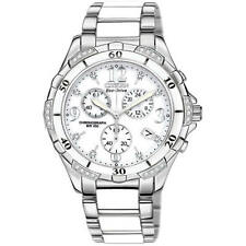 Citizen Ladies Eco-Drive 32 Diamond Chronograph S.S. Ceramic Watch FB1230-50A
