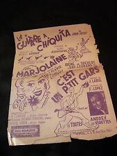 Partition La guitare à Chiquita Marjolaine Bourtayre Vandair Music Sheet