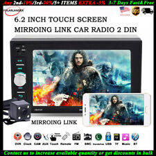 6.2'' 2 Din Car Radio Mirror Link Stereo MP5 Player Touch Screen  FM +Camera BT