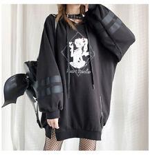 Gothic Tops Punk Steal Heart Demons Lolita Long Sweatshrt Harajuku Anime Hoodies