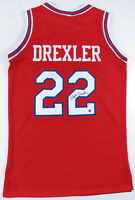 Clyde Drexler Houston Cougars Autographed Signed Sewn NCAA Basketball Jersey JSA