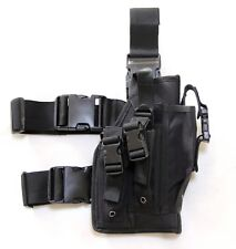 New Airsoft MK23 USP Tactical Dropleg Pistol Holster Utility Pouch Nylon Black