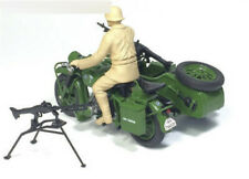 atlas R75 for BMW Army Green Motorcycle with Soldier and gun 1/24 FINISHED MODEL