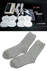 +BONUS! TENS MASSAGER W/CONDUCTIVE SOCKS ELECTROTHERAPY NEUROPATHY PAIN DIABETES