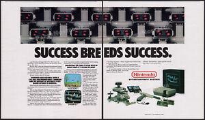 NINTENDO R.O.B. / Robot__Original 1986 early Trade AD / NES game promo / poster