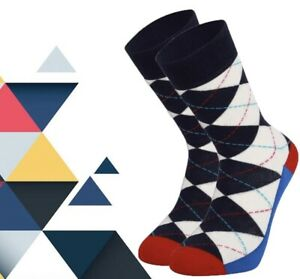 Men Argyle Pattern Socks Gift Socks Novelty Socks Funny Socks Colourful Socks
