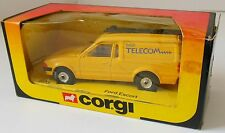 Corgi Ford Escort Van British Telecom 503 Vintage 1984 Original Box & Ladder