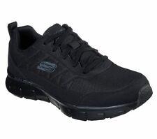 Scarpe Skechers Tutte Nere Sneaker Synergy 3.0 Memory Foam Uomo Pelle Tessuto
