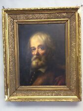 Oil On Canvas Painting of a Bearded European Gentleman 19x23