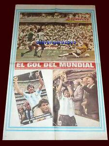 SOCCER WORLD CUP MEXICO 1986 - MARADONA - BURRUCHAGA - ARGENTINA CHAMPION Poster