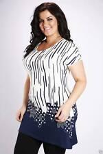 Women's Floral Plus Size Crew Neck Tops & Shirts