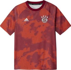 Adidas Fußball FCB FC Bayern München Kinder Home Pre-Match Shirt 2019/20 rot