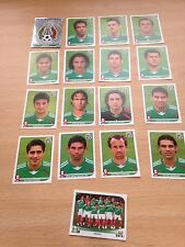 Mexico Team-Panini World Cup Stickers x 17 Mint-Includes Shiny,players etc