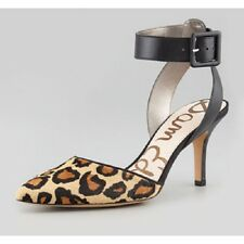 NEW SAM EDELMAN OKALA ANIMAL PRINT FUR LEATHER LOW HEEL PUMP    SZ 6