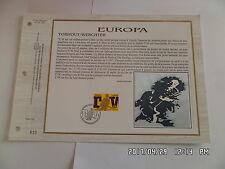 TIMBRE PLANCHE PREMIER JOUR N°844 BELGIQUE EUROPA TORHOUT / WERCHTER         G26
