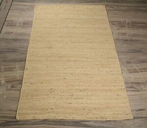 Home Decorative White Jute Rug Bedroom Beautiful Rectangle Carpet