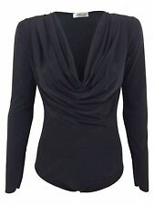 Women's Polyester Cowl Neck Tops & Shirts