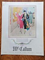 1925 Mc Callum Fashion Ad 1925 Swans Down Cake Flour Ad