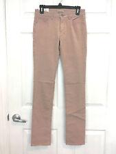 NEW UNIQLO Women Heattech Corduroy Pants 25 inch Pink $39.90 Slim Fit