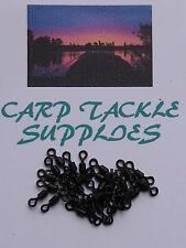 Matt Black Micro Hook Swivels -  Size 16 (25 Per Pack) CARP FISHING
