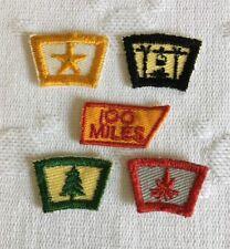 BSA Vintage Segment Rocker Patch Lot (5) Achievment Scout Twill Front Gauze Back