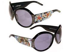 Ed Hardy Sunglasses Womens Swarovski Crystal Ehs002 Koi FIsh Black Frame Grey