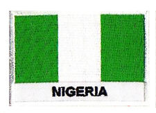 Ecusson brodé badge patche drapeau NIGERIA 70 x 45 mm patch Afrique