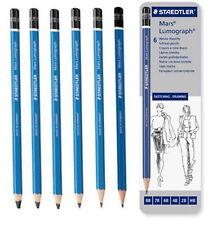 Staedtler 100 Mars Lumograph Pencil Set Metal Tin G6 HB 2B 4B 6B 7B 8B noo
