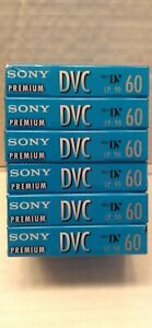 SONY Premium DVC Digital Video Cassette Tapes 6-Pack 60 Minutes BRAND NEW SEALED