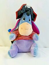 "Disney Store Winnie the Poohs Eeyore in a  Pirates costume 13"" Plush Stuffed"
