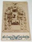 Antique Ohio Normal University Teachers! Civil War Vet Col. Rogall Cabinet Photo