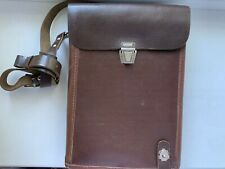Soviet Russian Army Military Officer Leather Map Bag Tablet Case Planshet USSR