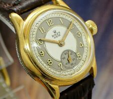 🔥Vintage mens 1939 Rolex Oyster 3373F EPIC TWO TONE DIAL High Grade Watch NR!
