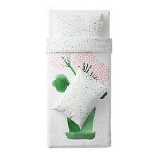 IKEA sallskap Copertura Singola Trapunta & 2 Federe-Bianco, Verde, Rosa floreale