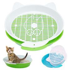 Cat Litter Box with Tray Mat Plastic Filter & Scoop Box Kitten Toilet Blue Green